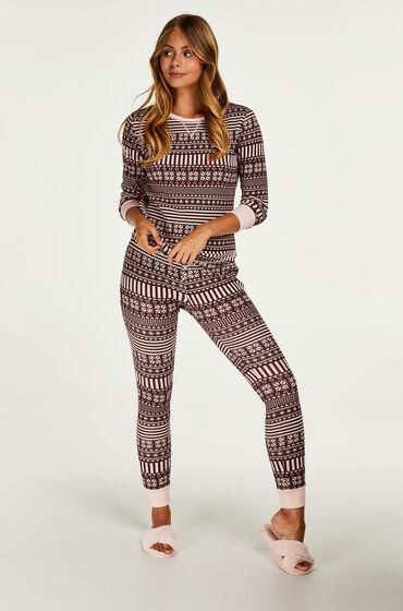 Hunkemöller Cadeauset Lange Pyjama Set Huidskleur