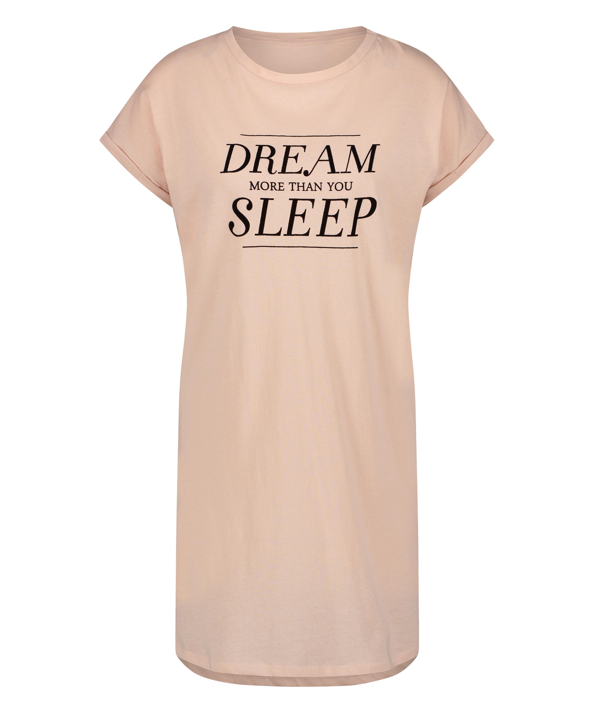 Nachthemd korte mouwen Dream, Roze, main