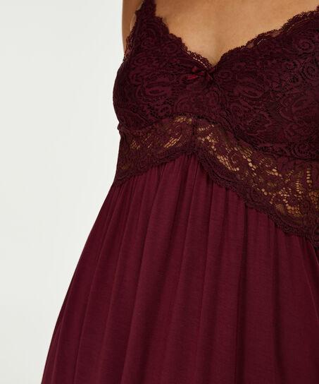 Lace slipdress, Rood