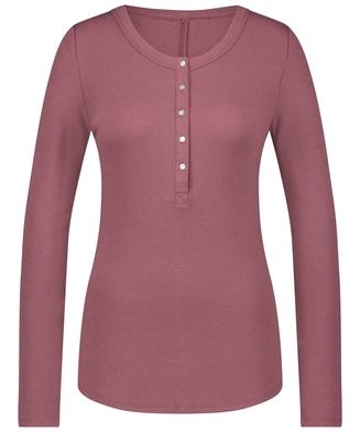 Pyjamatop lange mouwen, Roze