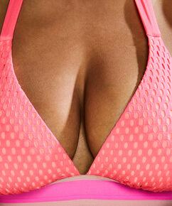 Triangle bikinitop Flash Dance, Roze