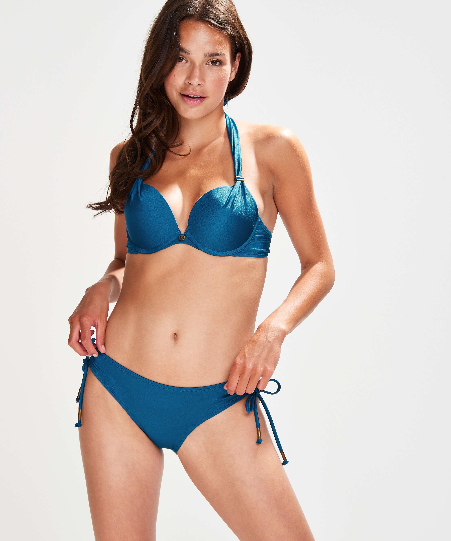 Voorgevormde push-up bikinitop Sunset Dream Cup A - E, Blauw, main