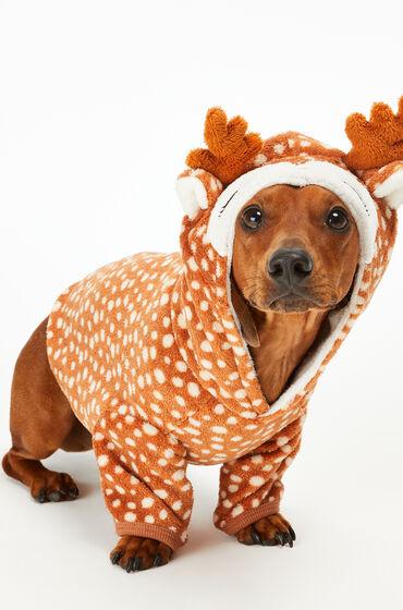 Hunkemoller Fleece honden onesie Bruin