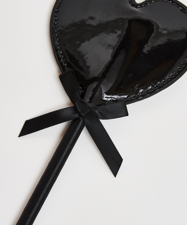 Private zweep Lerenlook, Zwart, main