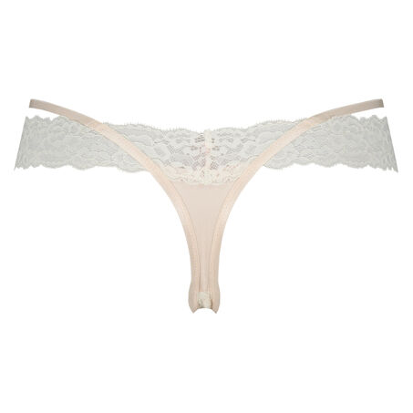 Extra lage v-shape string Ariel, Roze