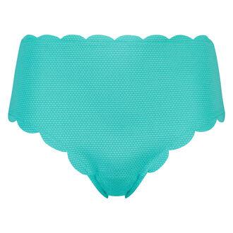 Hoog cheeky bikinibroekje Scallop dreams, Blauw