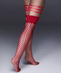 Stay-up Fishnet Private Big Sexy, Rood