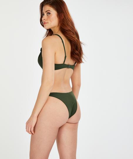 Hoog uitgesneden bikinibroekje Luxe, Groen