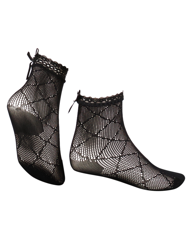 1 paar sokken Mesh Rebecca Mir, Zwart, main