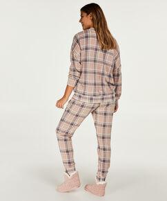 Pyjama top lange mouwen jersey, Roze
