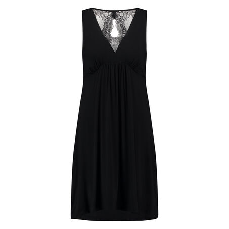 Slip Dress Janice, Zwart