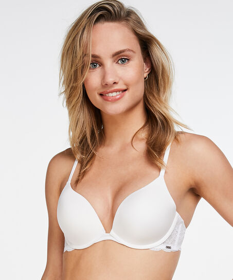 Voorgevormde push-up beugel bh Angie, Wit