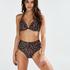 Voorgevormde push-up beugel bikinitop Leopard, Beige