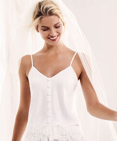 Cami top satin Bridal, Wit