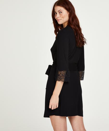 Kimono Vera Lace, Zwart