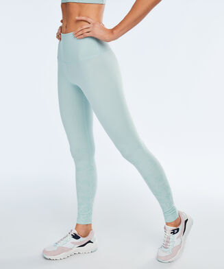 HKMX High Waist Sportlegging branded gloss, Groen