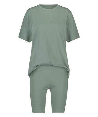 Korte pyjama set Biker, Groen