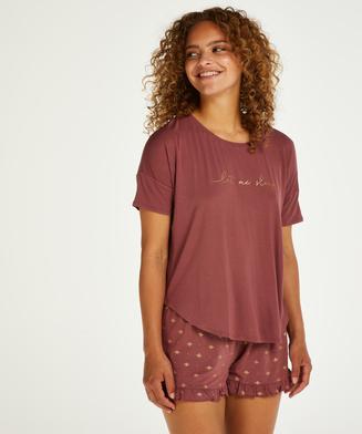 Korte pyjama set, Roze
