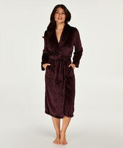 Lange badjas Fleece, Rood