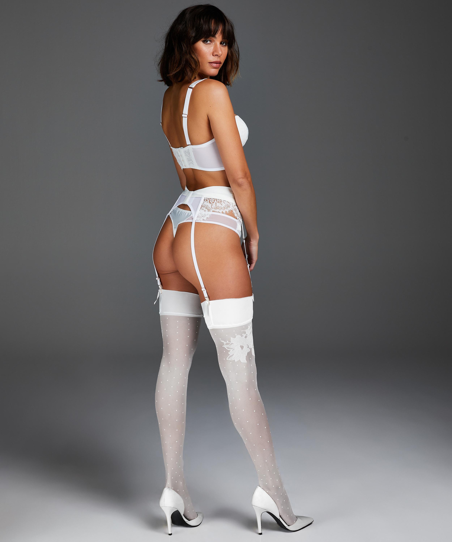 Noir Stockings 15 Denier Amelia Anti Ladder, Wit, main