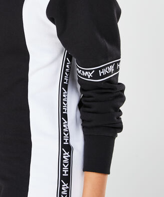 HKMX Sweatdress branded, Zwart