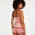 Shorts Velours Lace, Roze