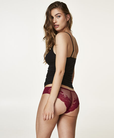 Invisible Brazilian Lace Back, Paars