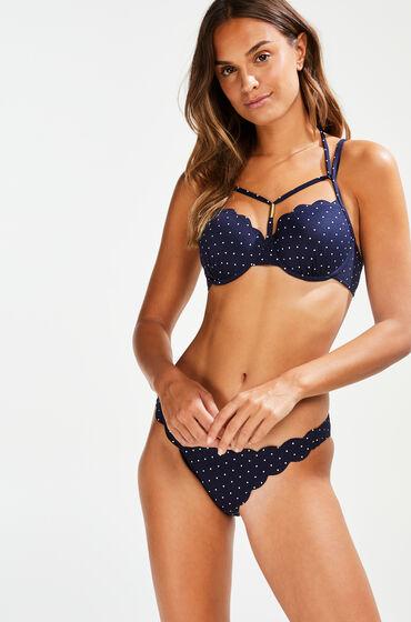 Hunkemöller Laag rio bikinibroekje Scallop Bloom Blauw