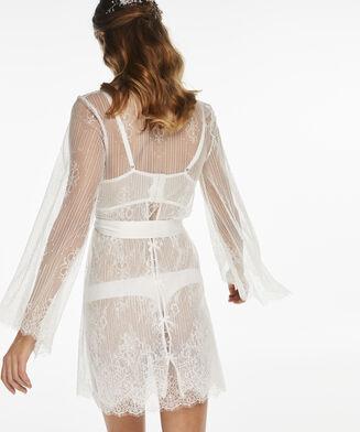 Kimono Mesh lace, Wit