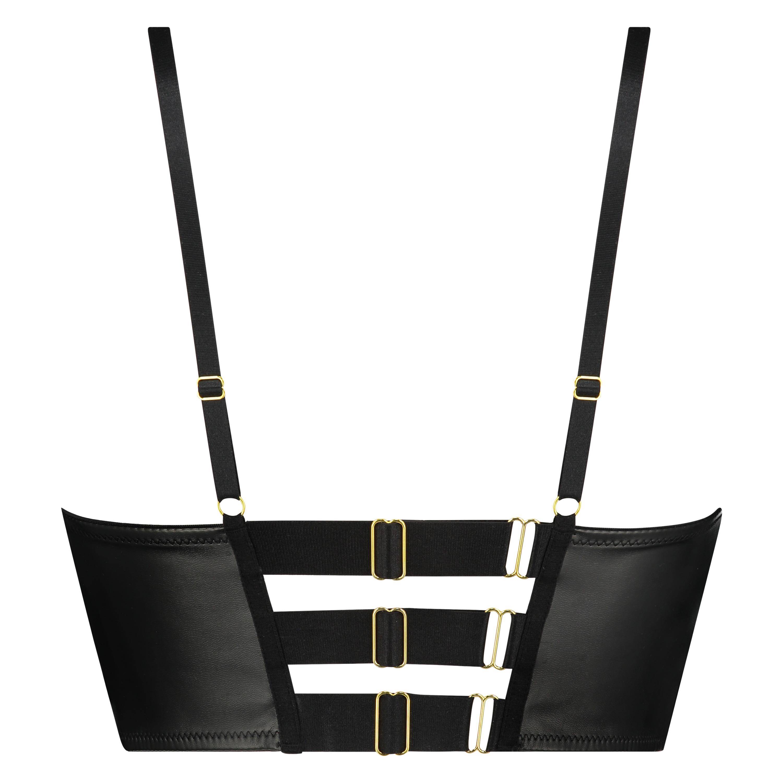 Voorgevormde push-up longline beugel bh Talia, Zwart, main