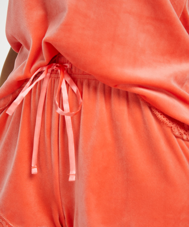 Shorts Velours Lace, Oranje, main