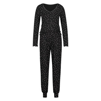 Lange pyjama set, Zwart