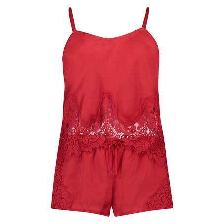 Pyjama set Satin, Rood