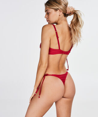 Bikini Croptop Tied Down, Rood