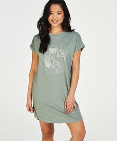 Nachthemd ronde hals, Groen