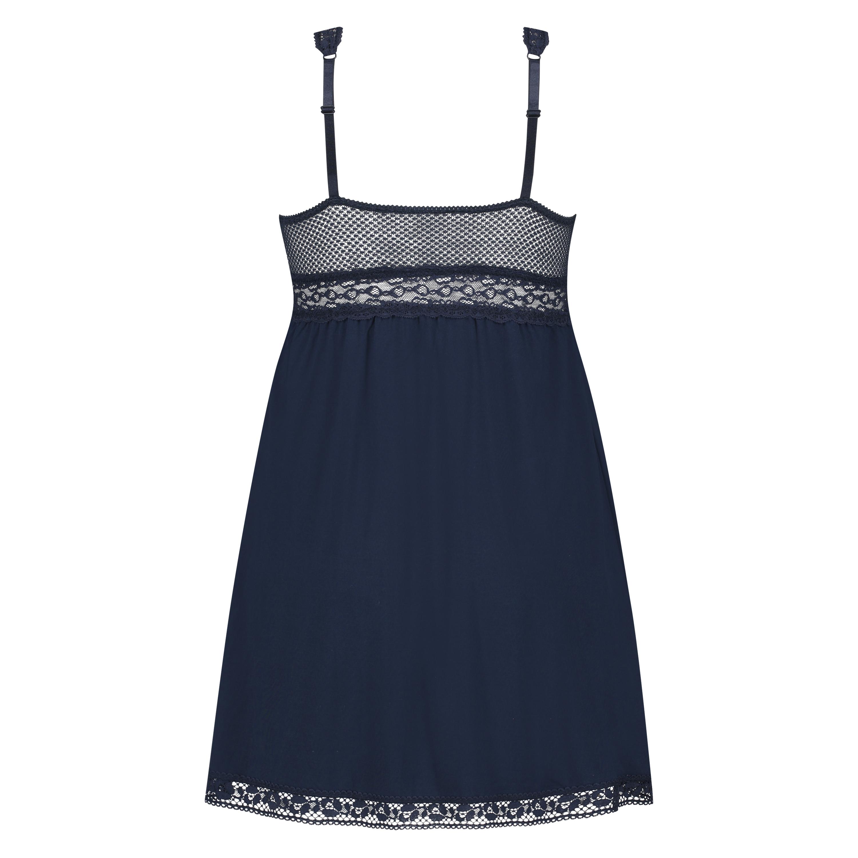 Slipdress Graphic lace, Blauw, main