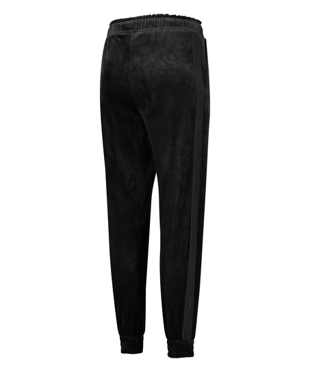 HKMX Sport broek Velours, Zwart