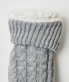Slof Sokken Knit, Grijs