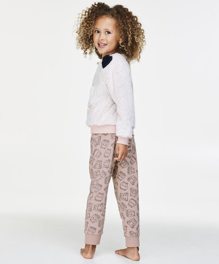 Fleece legging Kids, Roze