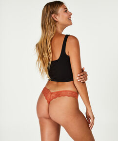 Invisible string Lace back, Bruin