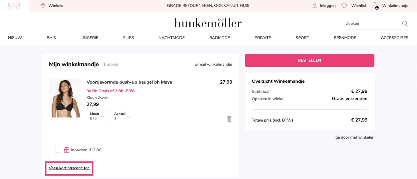 75107ccce64 Hunkemöller kortingscode: 30% korting in Augustus 2019!