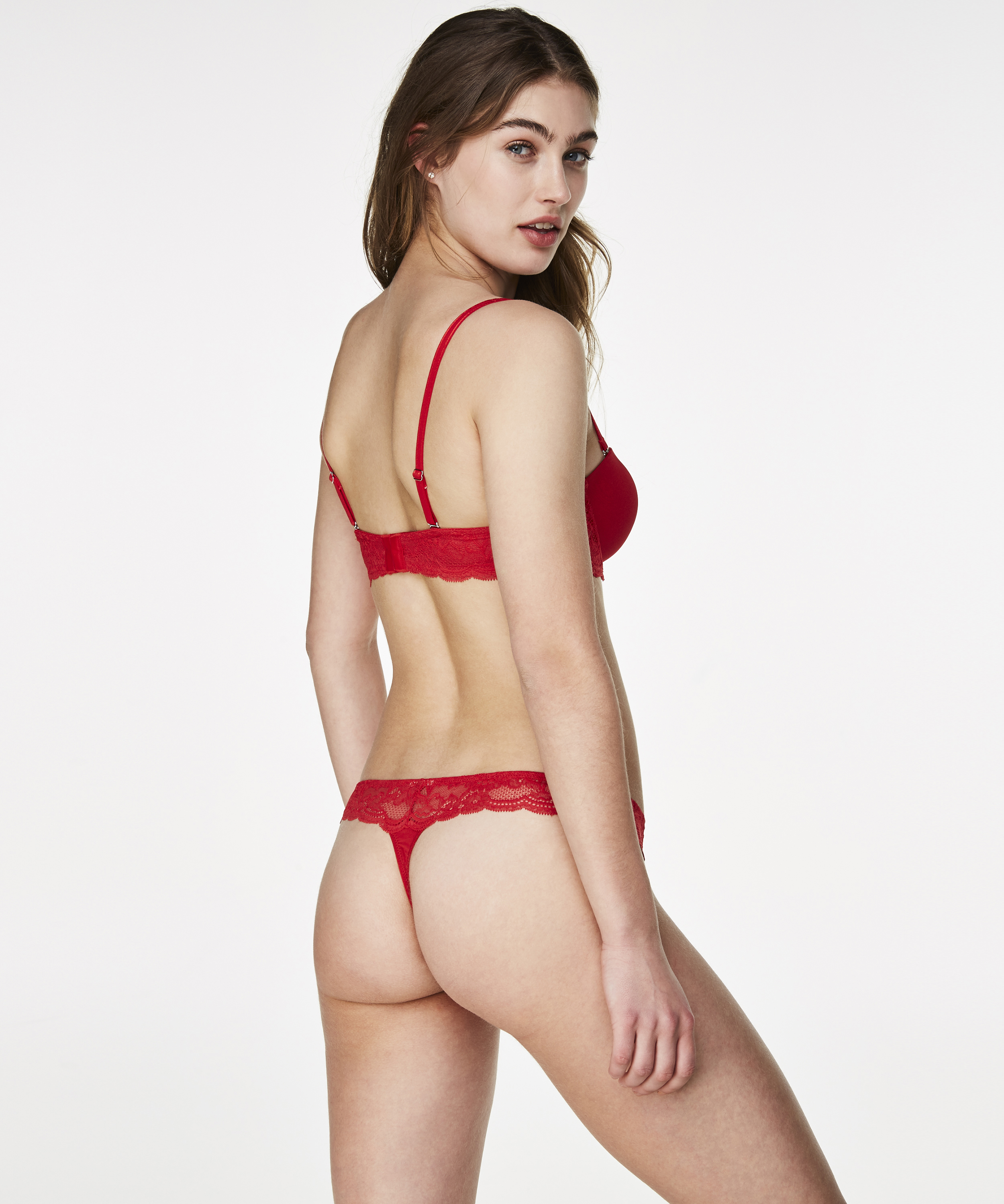 Voorgevormde strapless beugel bh Angie, Rood, main