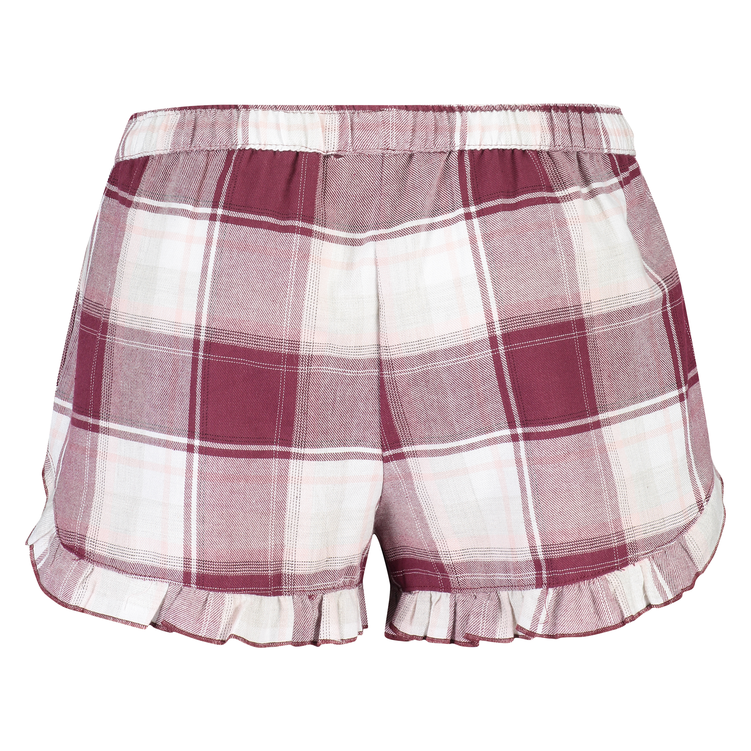 Pyjamashort Check, Rood, main