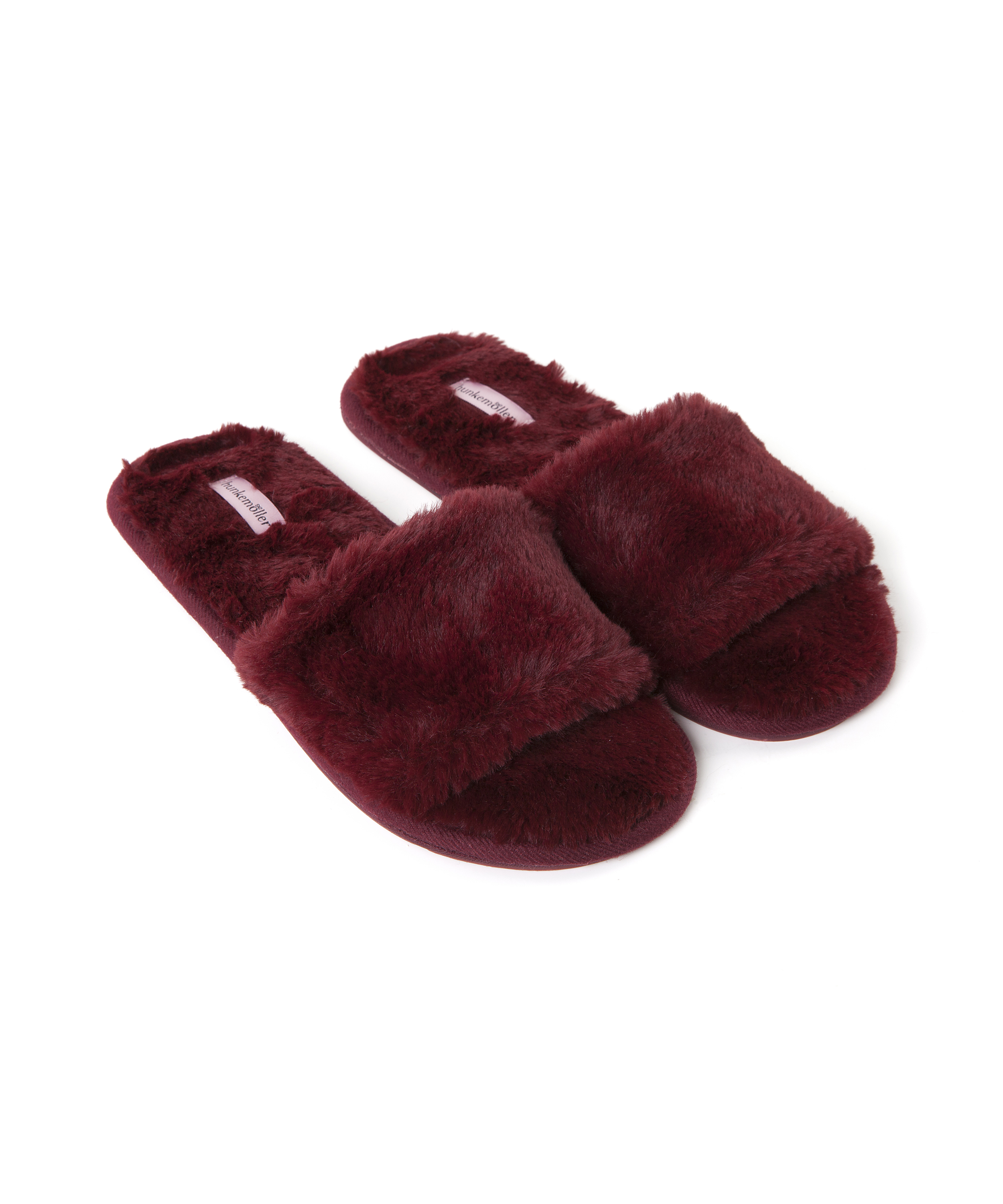 Huisslippers Fur Top, Rood, main