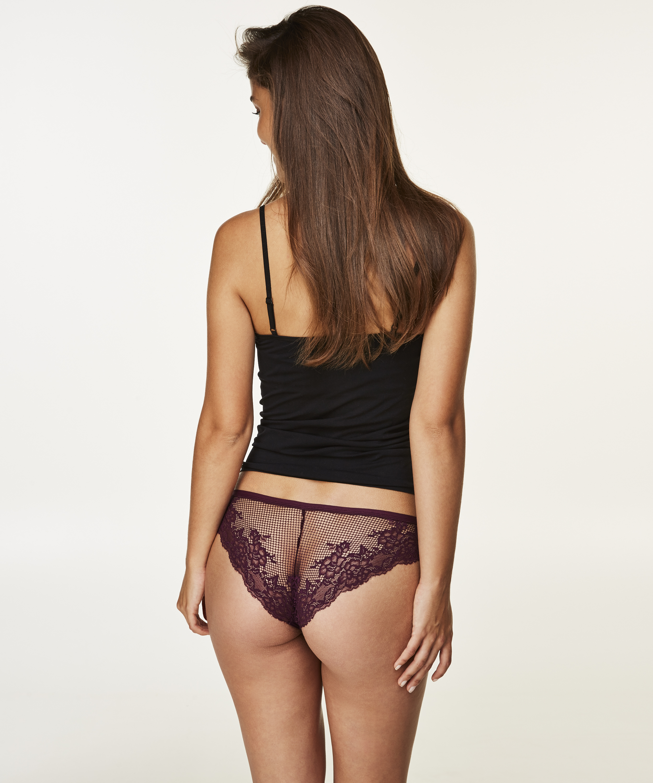 Invisible Brazilian Lace Back, Paars, main