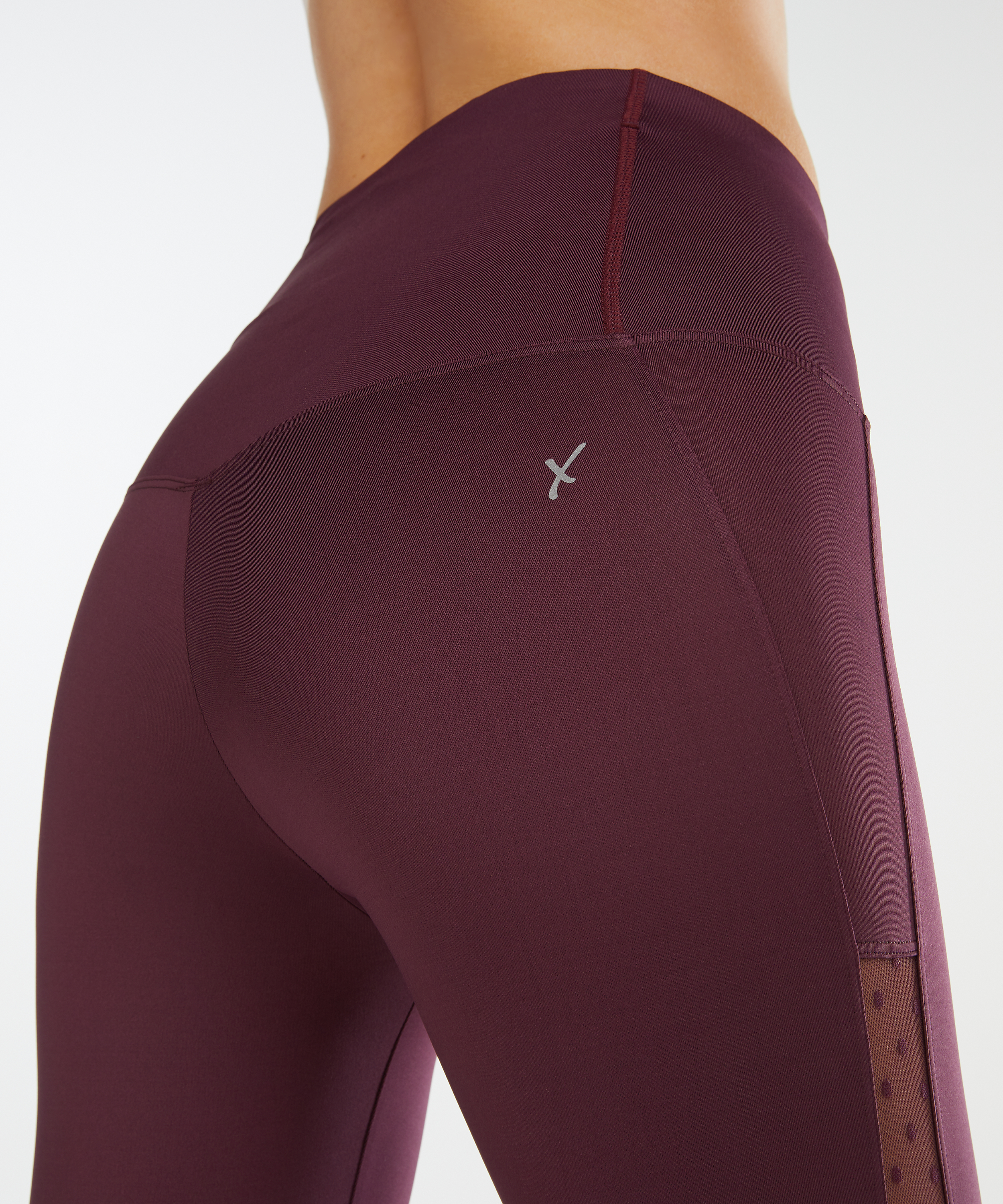 HKMX High waisted capri level 2, Paars, main