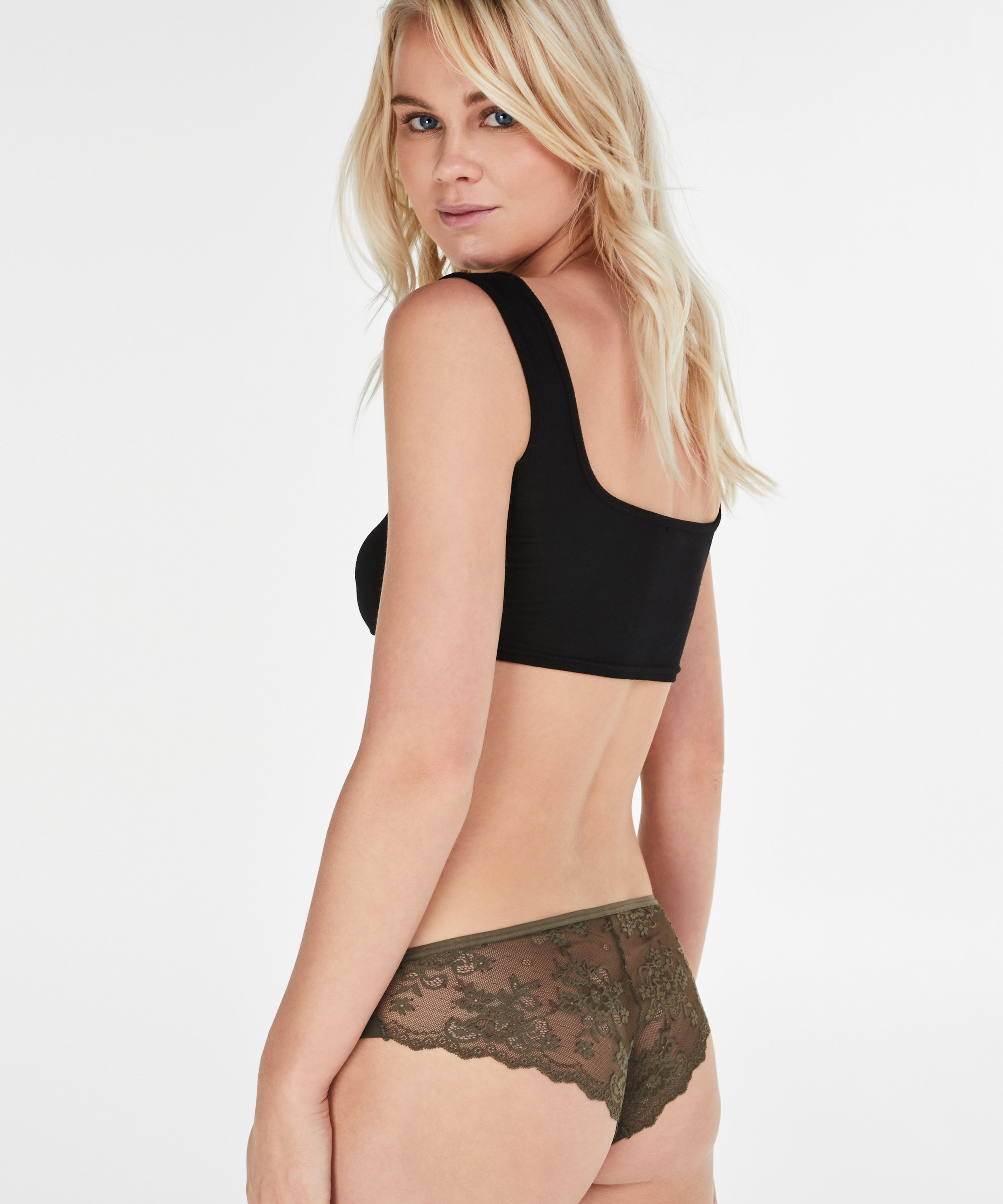 Invisible Brazilian Lace Back, Groen, main