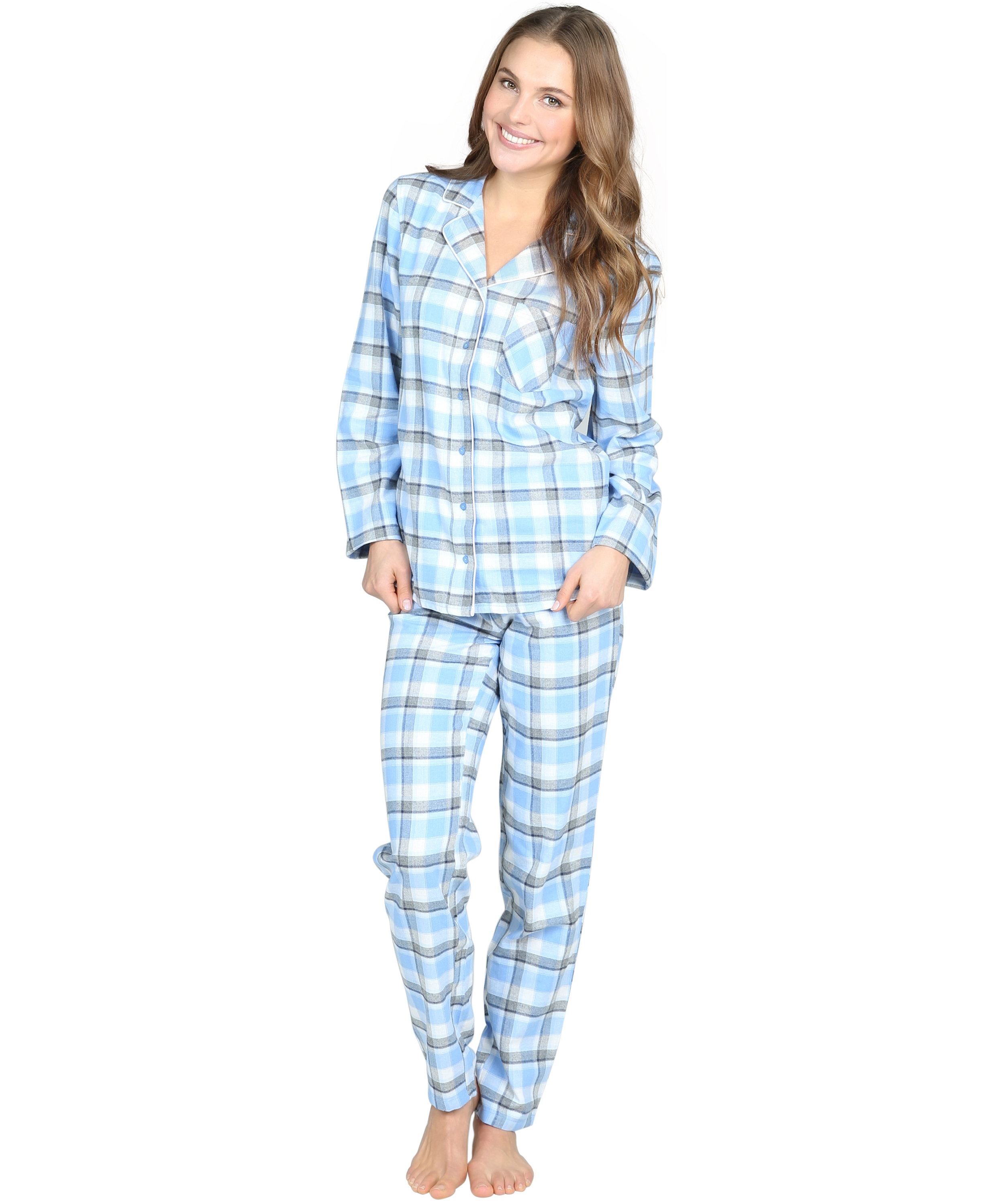 Pyjama set Pappilon, Blauw, main