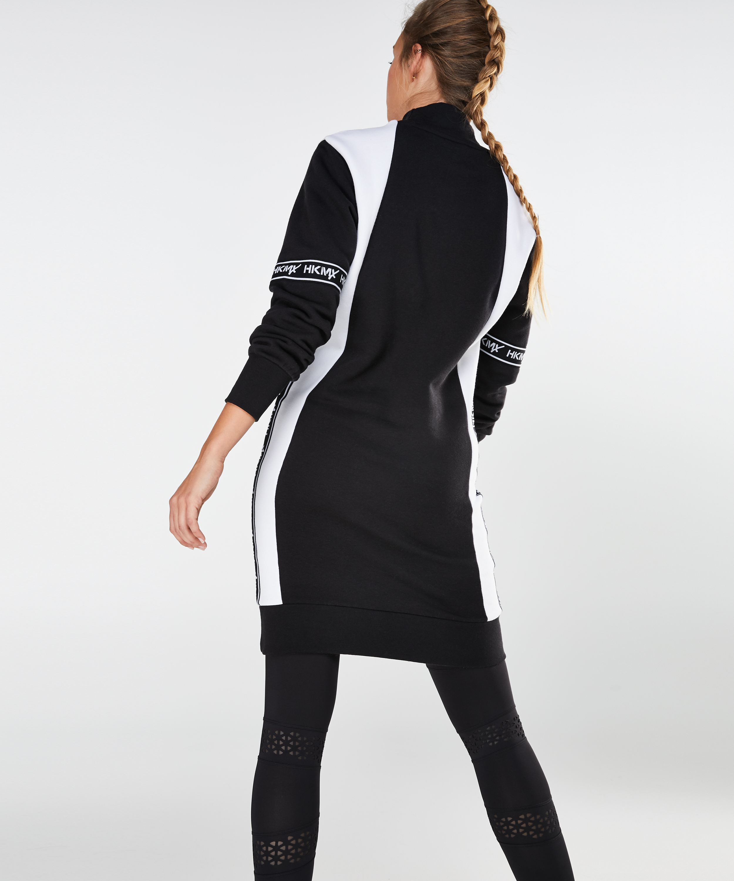 HKMX Sweatdress branded, Zwart, main