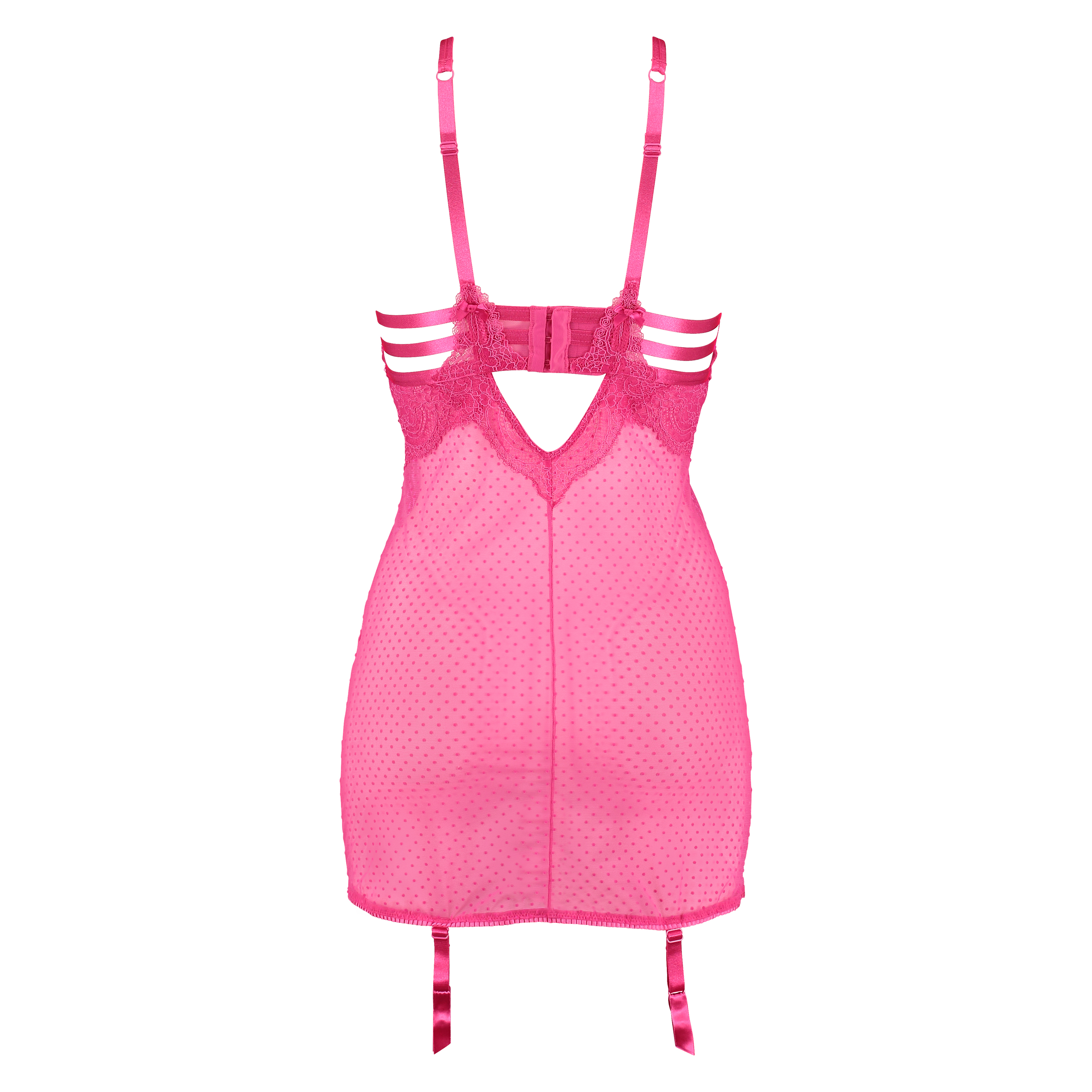 Slipdress Juliette, Roze, main